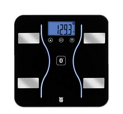 Weight Watchers Bluetooth Monitor Body Fat Muscle Mass Bath Scale - Black WW912F