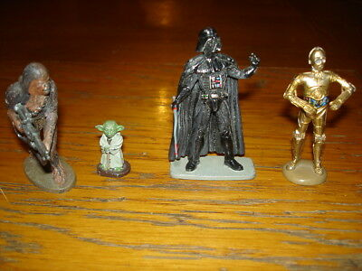Star Wars Lot Figurine Plomb Dark Vador Chewbacca  Yoda C3Po