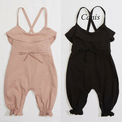 Newborn Baby Girls Bandage Romper Jumpsuit Sunsuit Outfits Summer Thousers 0-24M
