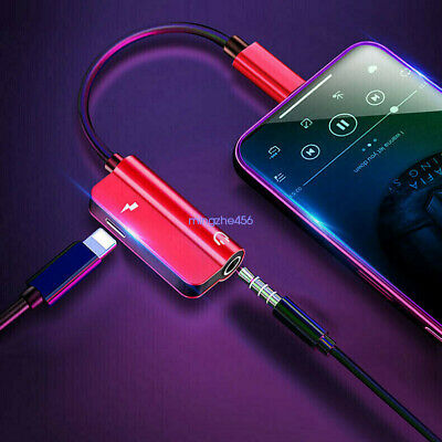 For iPhone X XS XR 7 8 Plus 3.5mm Headphone Adapter and Charge Cable