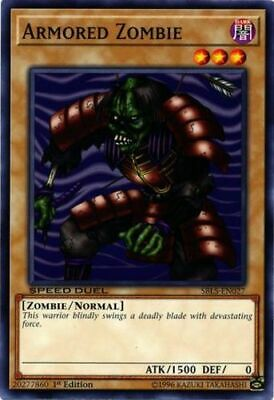 x3 Armored Zombie - SBLS-EN027 - Common - 1st Edition Near Mint In Hand