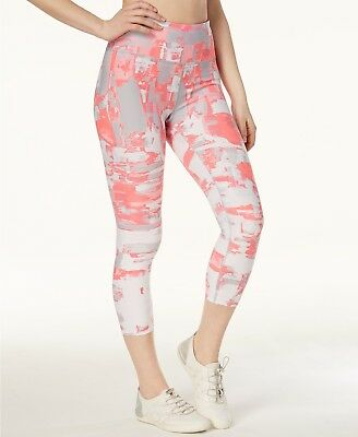 80d84194a2ae00 Calvin Klein Performance CollagePrint HighWaist Cropped Leggings L NEW with  tag