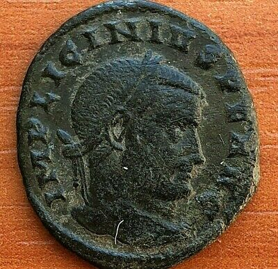 Roman Empire - Licinius I 308-324 AD AE Follis Sol Ancient Roman Coin