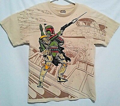 e3966337bb Star Wars Mens Graphic Tee Shirt sz Med Boba Fett Sarlacc Pit Bounty Hunter  Rare