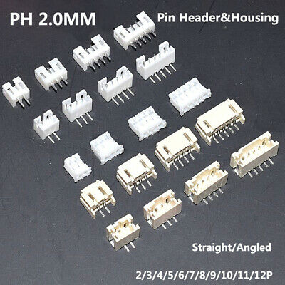 2/3/4/5/6/7/8/9/10/11/12P PH 2.0MM Connector Pin Header&Housing Straight/Angled