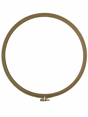 "Nurge Premium Beech Wood Gold Clasp Embroidery Hoop 10"" Inches/25cm Diameter"