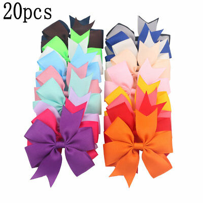 20X Fashion Kids Baby Girls Children Toddler Flowers Hair Clip Bow Hairpin #HD3