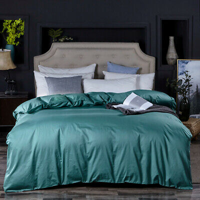 Pure Cotton Quilt Duvet Doona Cover Set 1000TC Single Queen King All Size Bed