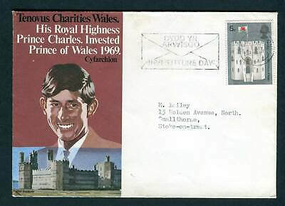 1969 GB. Tenovus Charity Wales. Prince Charles Investiture day cover