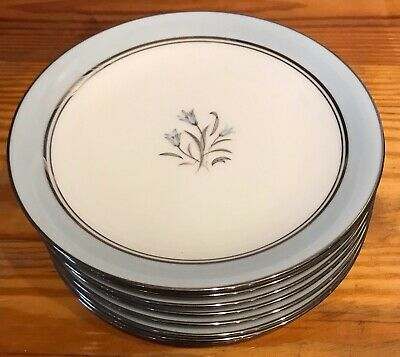 "Lot of 8 NORITAKE CHINA JAPAN  BLUEBELL BREAD AND BUTTER  PLATES 6 1/4"" - EC"
