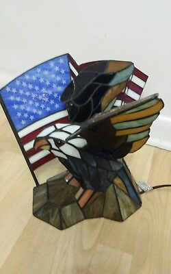Stained Glass American Flag.Dale Tiffany Stained Glass Bald Eagle American Flag Spirit