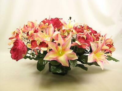 Large Wedding Artificial Flowers Top Table Centrepiece with Rose Orchids Lily