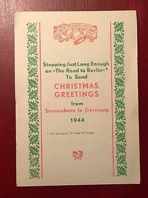 1944 WWII CHRISTMAS GREETINGS from Somewhere in Germany. Passed by Army Examiner