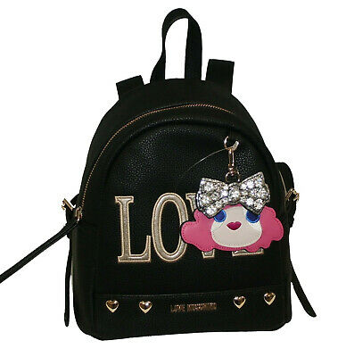 c4e81d50e0 BORSA ZAINO LOVE MOSCHINO BACKPACK PEBBLE PU Donna JC4254 NERO - EUR ...