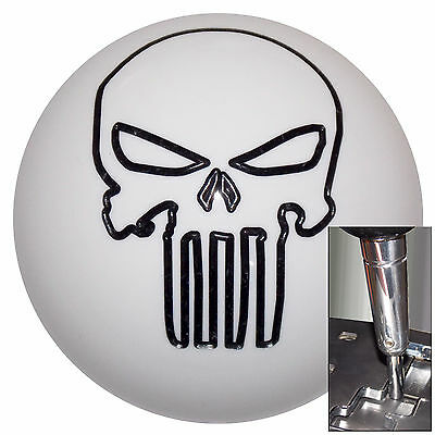Black Silver Punisher Skull shift knob for Dodge Chrys Jeep Auto ...
