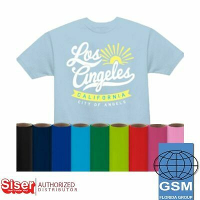 Siser Easyweed HTV Heat Transfer Vinyl 5 YARDS (39 COLORS), NO FLUORESECENT
