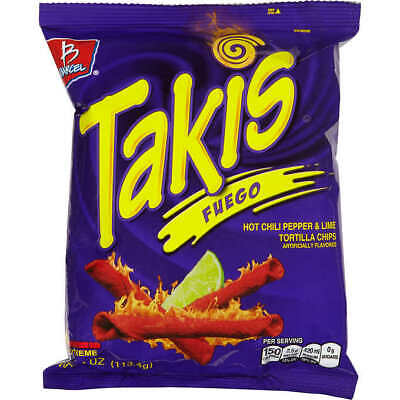 Takis Fuego 4 oz (113g) bags (Pack of 20)