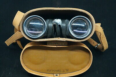 WW2 USN Navy 1944 Dated Westinghouse M15 Binoculars In Leather M44 Carrying Case