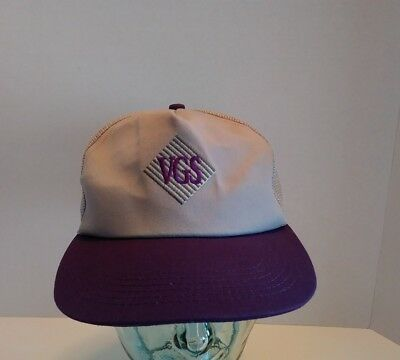 K Products VGS SnapBack Trucker Hat Cap Vegetable Growers Supply Co Farm USA VTG