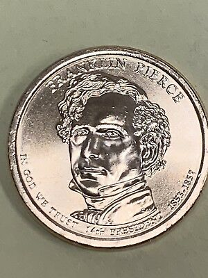 2010 D Franklin Pierce Presidential Dollar Pos A from US Mint Set in Coin Flip