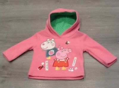 Mothercare  Baby Girl Peppa Pig Pink Hoodie Jumper Size 9-12 Months
