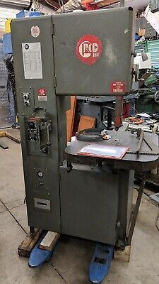 """GROB 18"""" Vertical Band Saw 4v-18 single phase AC drive variable speed + gearbox"""