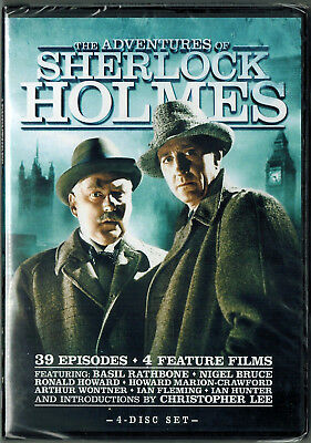 The Adventures of Sherlock Holmes 4 Disc DVD - Complete Series -NEW Sealed- NTSC