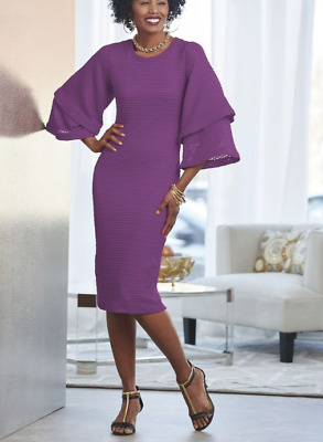 a1b4a5222 Ashro Formal Purple Plum Dinner Alondra Dress Church Party Size M L XL 3X  PLUS