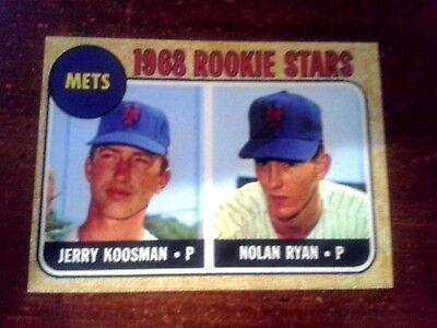 1968 ACEO  Nolan Ryan - ROOKIE - #177  New York Mets - Sharp..** 3 lot total **