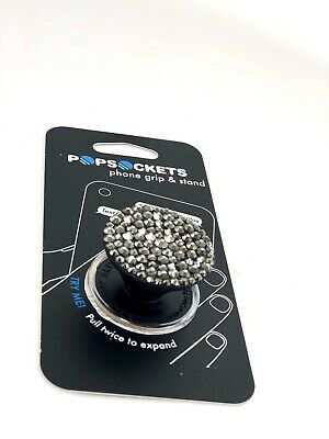Bling PopSocket w/ Genuine Swarovski Crystals Authentic Jeweled Pop Socket Skull