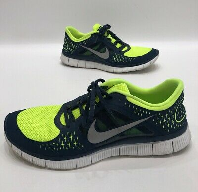 first rate 9314e 2583d Nike Free Run 3 5.0 Neon blue Mens Running Shoes Size 13 GREAT!