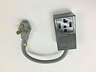 3-PIN 10-50P RANGE STOVE PLUG CORD ADAPTER   to  4-PRONG 14-30R DRYER RECEPTACLE