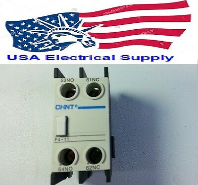 New Auxiliary Contact Block LADN11 Replacement for Chint F4-11 1NO+1NC