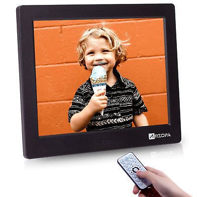 Arzopa 8 inch Digital Frame, High Resolution Digital Picture Frame Support MP3