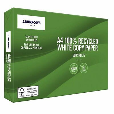 J.Burrows Premium 100% Recycled A4 Paper x 50