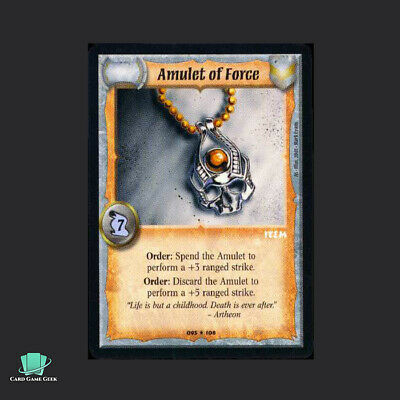 Amulet of Force AS Warlord Saga of the Storm SotS CCG