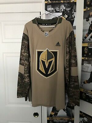 official photos 3d3e9 dd948 VEGAS GOLDEN KNIGHTS Authentic Adidas Jersey Size 54 XL Blank Veterans Day
