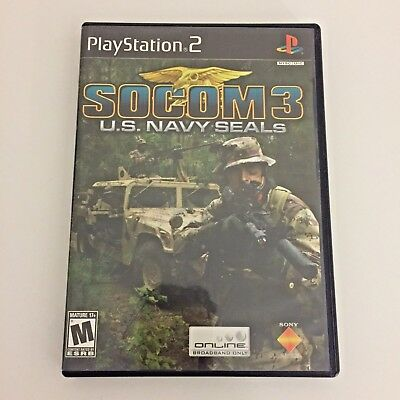 SOCOM 3 US Navy SEALs Playstation 2 PS2 Video Game Tested CIB Complete in Box