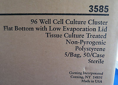 Qty 50 Corning Costar 96 Well Cell Culture Plates # 3585