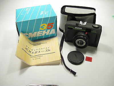 Smena-35 Lomo camera with T-43 lens f/4 40 mm  made in USSR NEW OLD STOCK