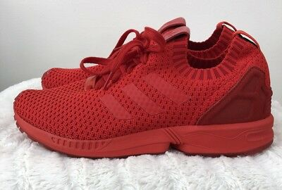 promo code 75915 da58b ADIDAS PREMIUM ZX Flux Primeknit Triple Red Men's Running Shoes S76497 Sz 8