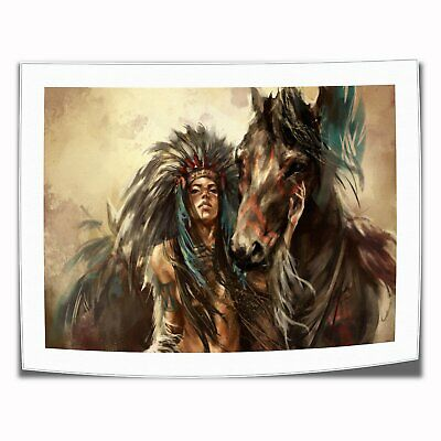 "Women and horses Paintings HD Print on Canvas Home Decor Wall Art Photo 16""x22"""