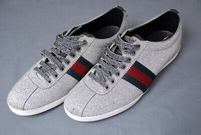 cbdebfbe1b80 $730 GUCCI men's glitter sneakers with studs shoes IT 8 / US 9 trusted  seller