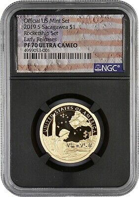 2019 Rocketship Sacagawea PR70 NGC Ultra Cameo Early Release