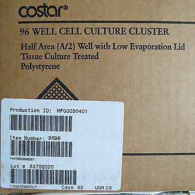 Corning Costar Clear 96 Well ½ Area FB Plates w/Lid # 3696 Pack/47