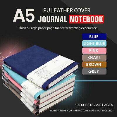 A5 Fashion glued PU Leather Cover Journal TRAVEL Notebook Travellers Diary+ 1Pen