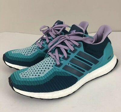 e71fb829d333f NEW Adidas ULTRA BOOST 2.0 Womens 10.5 Violet Teal Navy White Green AF5140