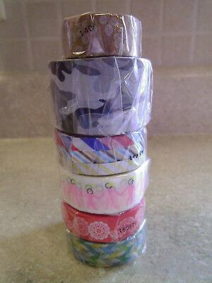 Lot of MT Brand Washi Tape, Assorted Patterns, New