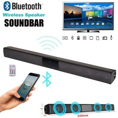 Sound Bar Wireless V4.2 Bluetooth Speaker TV Home Theater Soundbar Subwoofer New