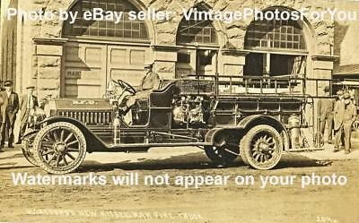 Nice Old/Antique/Vintage 1913 Kissel Fire Truck/Engine/Equipment Photo/Picture